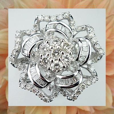 แหวนเพชรดอกไม้ 1 ct.