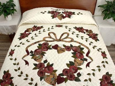 ผ้าคลุมเตียงด้นมือ