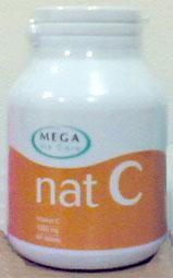 อาหารเสริมวิตามินซี  Nat C 1000 mg Mega we care