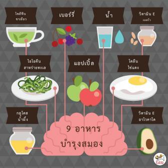 9 อาหารบำรุงสมอง