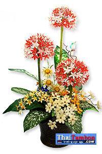 ดอกไม้ประดิษฐ์จากรังไหม