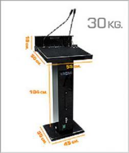 ขาย ให้เช่าโพเดี่ยมพร้อมเครื่องเสียงในตัว คิดและผลิตโดยคนไทย PD Mobile Podium