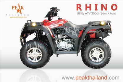Rhino 250 cc  Utility  ATV รุ่น Rhino ขนาด 250 cc เกียร์ semi-auto  4 จังหวะ 1 สูบ