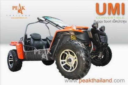 UMI 300cc & 450cc  รถ Buggy Sport ที่ออกแบบมาสำหรับ การท่องเที่ยวพักผ่อนชายทะเล หรือ ทางป่าเขา โดยมี 2 ขนาดให้เลือก 300 CC และ 450 C
