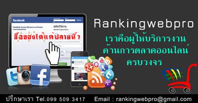 รับทำโฆษณาให้กับเว็บไซต์และธุรกิจหลากหลายประเภท