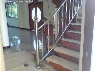 ราวบันไดสเตนเลส  Handrail Stainless