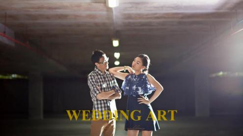 The Love Sassy Blue Pre-wedding Theme by www.weddingartplanner.com