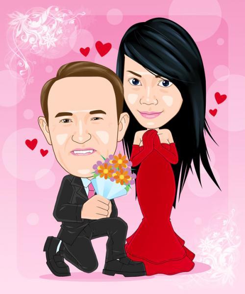 ซีโน่ โลตัสระยอง ภาพการ์ตูนล้อเลียน การ์ดแต่งงาน