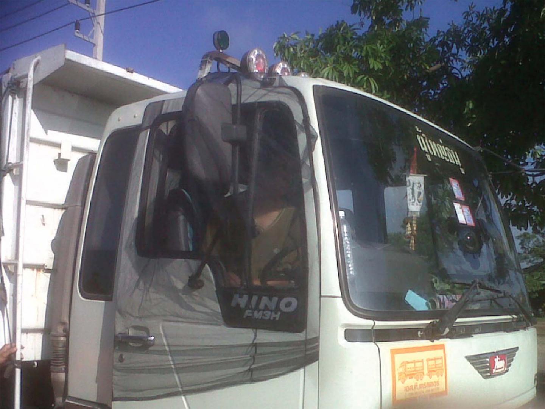 ผ้ามุ้งรถบรรทุก HINO MEGA รุ่นเก่า