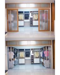 แบบเสาอลูมิเนียม Walk-in Closet 07